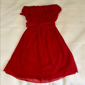Fun & flirty strapless red dress from Maurices